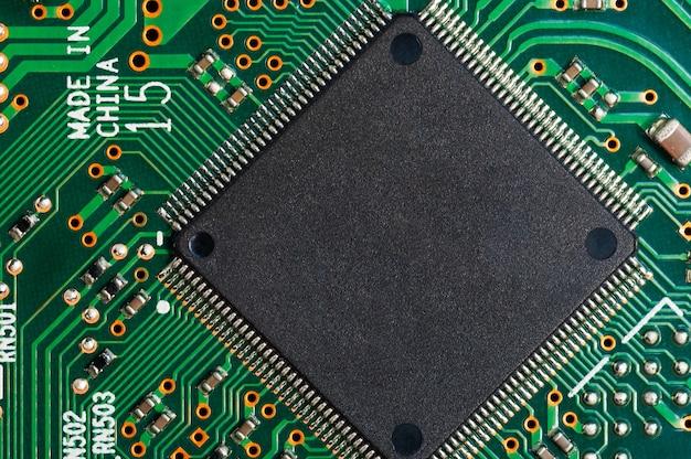 마이크로 칩이있는 전자 회로 기판 pcb.