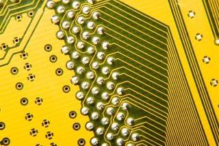 Электронная схема цепи анода