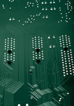 電子コレクション-裏側のコンピュータのメインボード