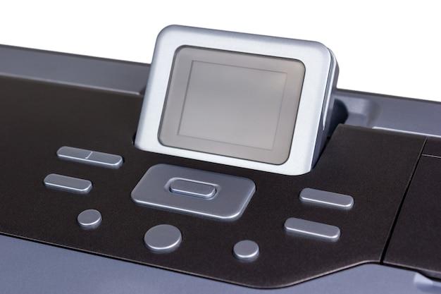 전자 컬렉션 - 흰색 배경에 고립 된 현대 잉크젯 프린터