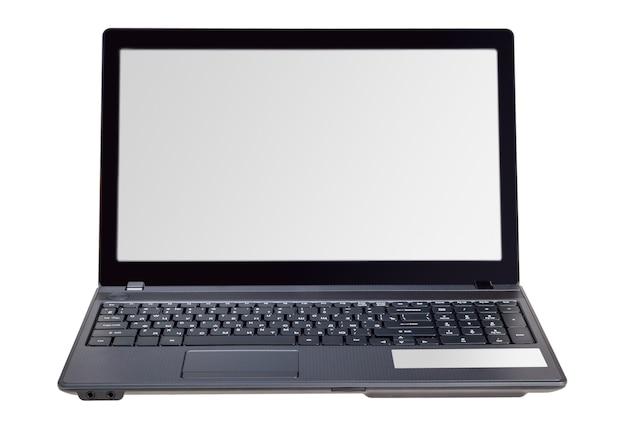 Электронная коллекция - современный ноутбук, изолированные на белом фоне