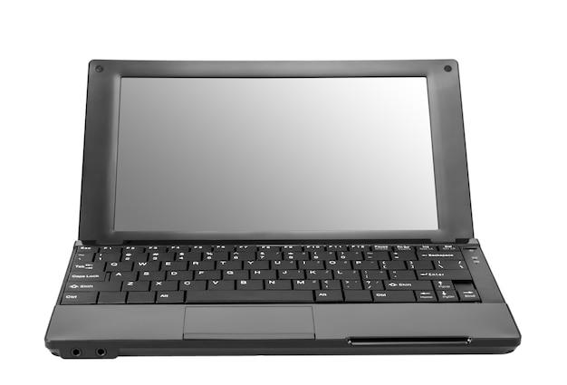 전자 컬렉션 - 흰색 배경에 고립 된 현대 오픈 노트북 (넷북) 컴퓨터