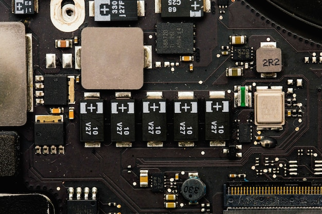 Electronic elements closeup