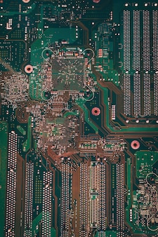 Electronic green computer chip texture