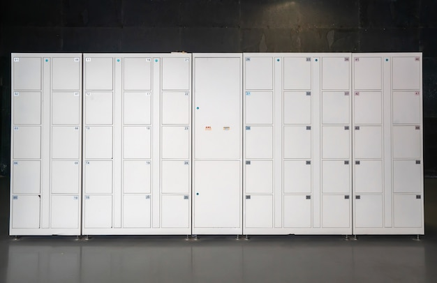 Electronic lockers in shopping malls