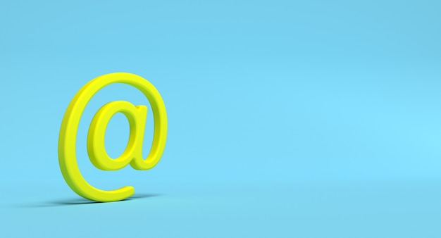 Electronic mail sign. email address letter and web concept. 3d render