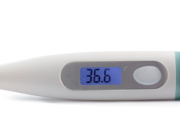 Electronic modern thermometer isolated