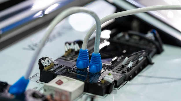 Electronic plugs on device
