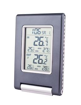 The electronic thermometer isolated