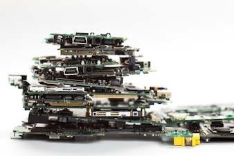 Electronic Waste,Semiconductor in Printed Circuit Board.