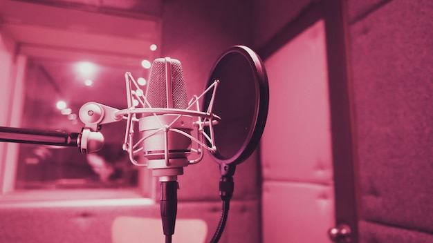 削減に使用するサウンドプロダクションレコーディングスタジオの三脚の電子反射フィルター