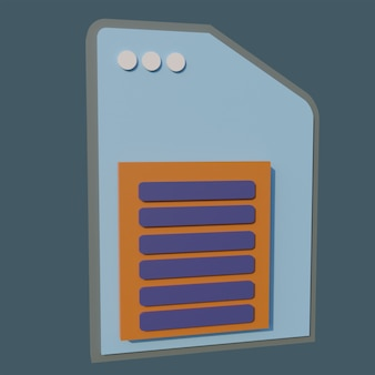 Elegant 3d paper icons on dark blue background
