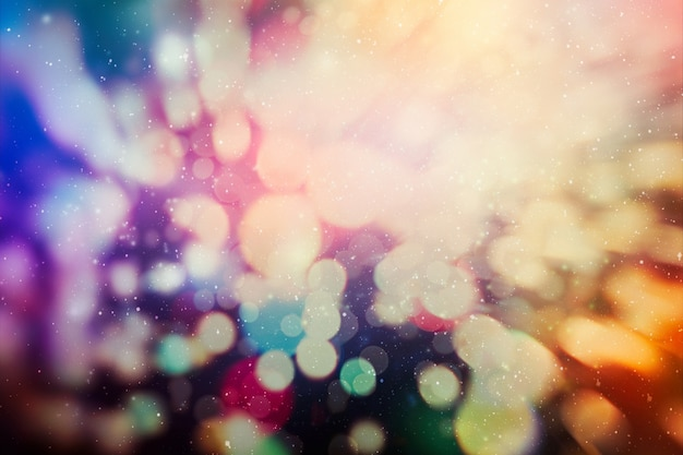 Elegant abstract background with bokeh defocused lights and stars