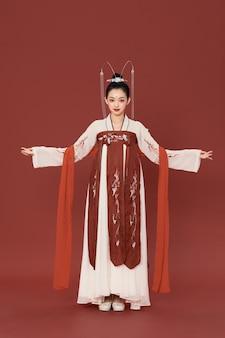 Элегантный древний шарм ханьфу в китайском стиле красоты