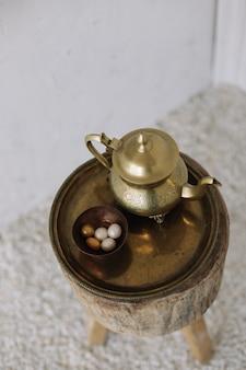 エレガントなアンティークゴールデンコーヒーセット