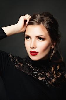 Elegant beauty. beautiful stylish woman fashion model