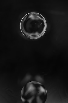 Elegant black abstract bubbles