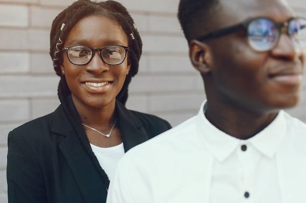 Elegant black couple