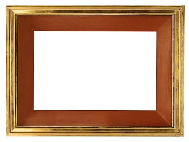 황금 테두리 흰색 절연 우아한 빈 프레임