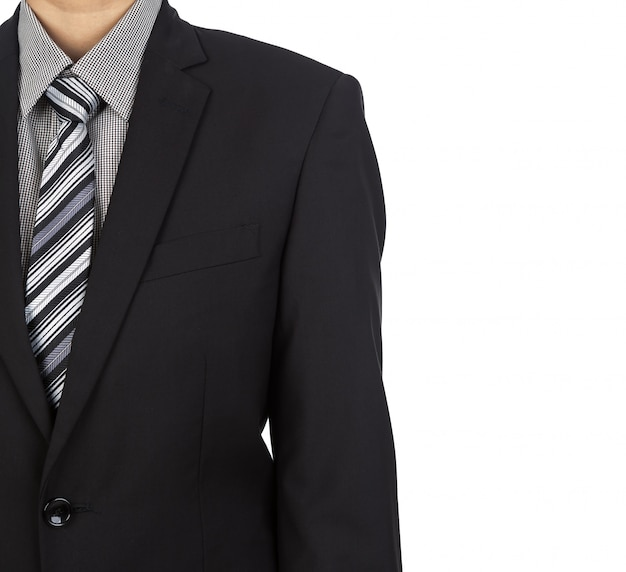 Elegant businessman with white background