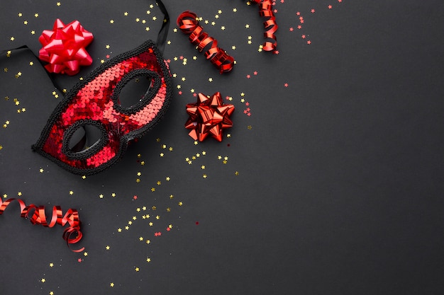 Elegant carnival mask with glitter