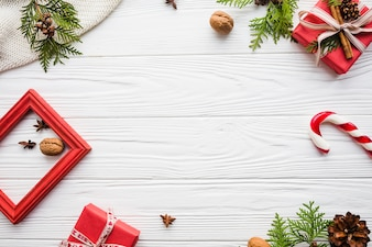 Elegant christmas background with space in middle