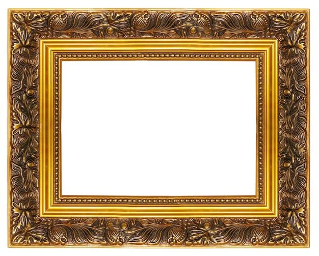 Элегантная классическая пустая рамка, изолированная на белом