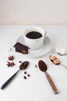 Elegant coffee concept