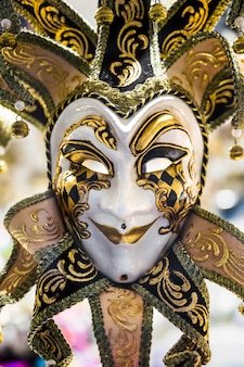 Elegant composition with venetian carnival's mask