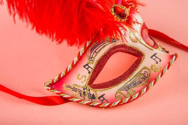 베네치아 카니발의 마스크와 우아한 구성