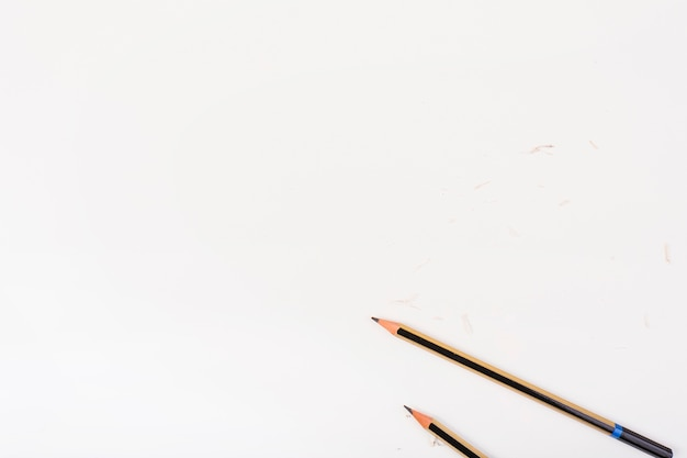 Elegant composition with wooden pencils