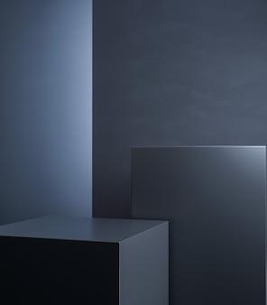 製品プレゼンテーションのためのエレガントな暗い幾何学的形状の背景