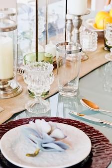 Elegant dining table setting