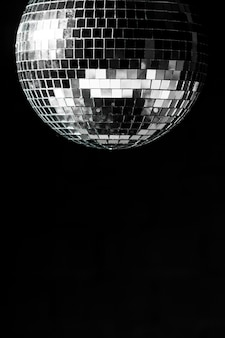 Elegant disco ball with copy space