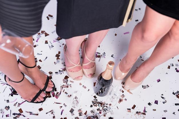 Elegant females at party