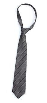 白のエレガントなグレーのネクタイ