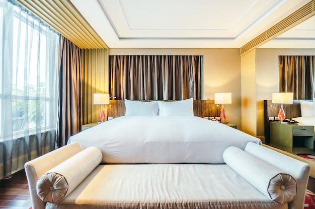 Elegant hotel room with window