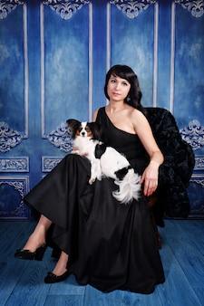 Elegant lady with a dog