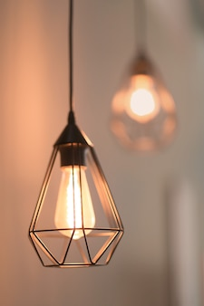 Elegant lamp with blurred lights