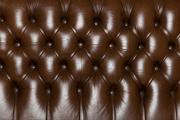 Elegant leather texture with buttons for pattern and background