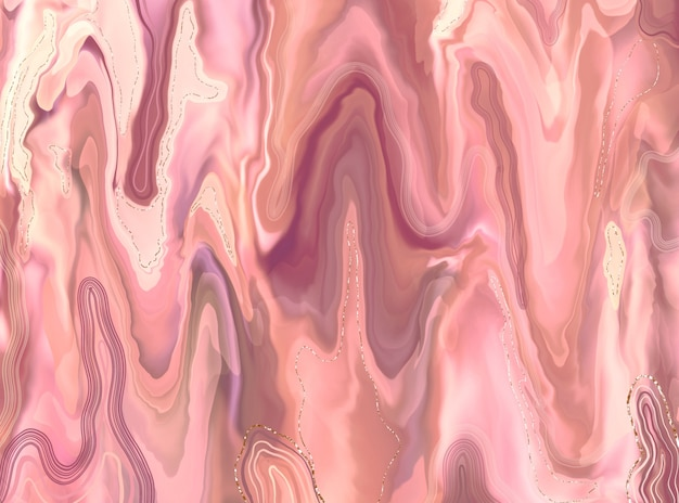 Elegant marble texture. rose gold liquid shiny texture. luxury design of backgrounds, banners, flyers, invitations, postcards, packaging