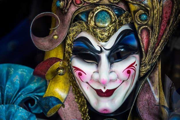 Elegant mask of venetian carnival