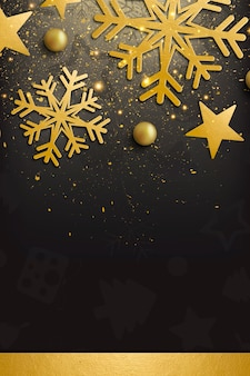 Elegant merry christmas and happy new year background