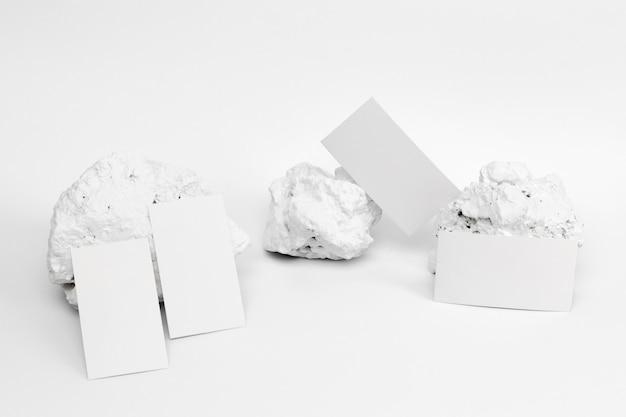 Elegant minimalistic white stone piece with stationery