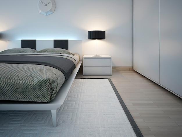 Elegant monochrome bedroom trend.