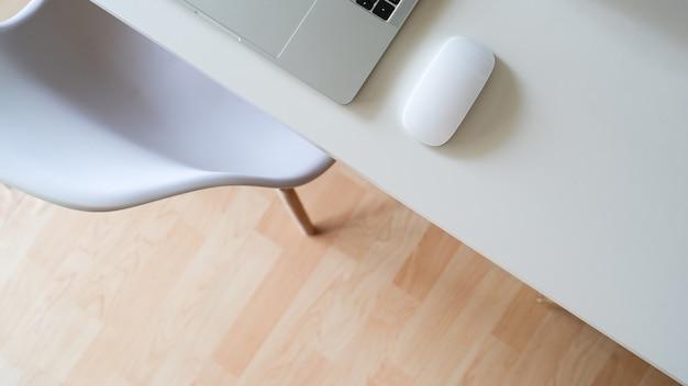 Elegant office workspace desktop and copy space