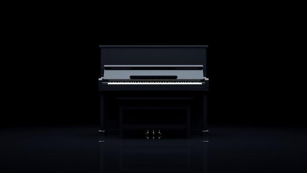 Элегантное пианино в темной комнате.