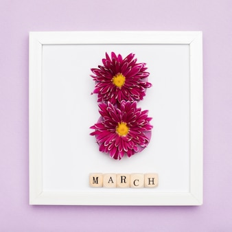 Elegant picture frame with flowers