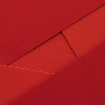 Elegant red papers and envelopes close-up