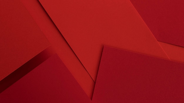 Elegant red papers and envelopes
